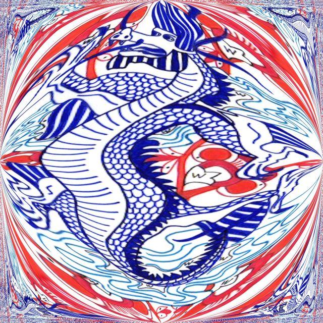 Blauwe draak cirkel