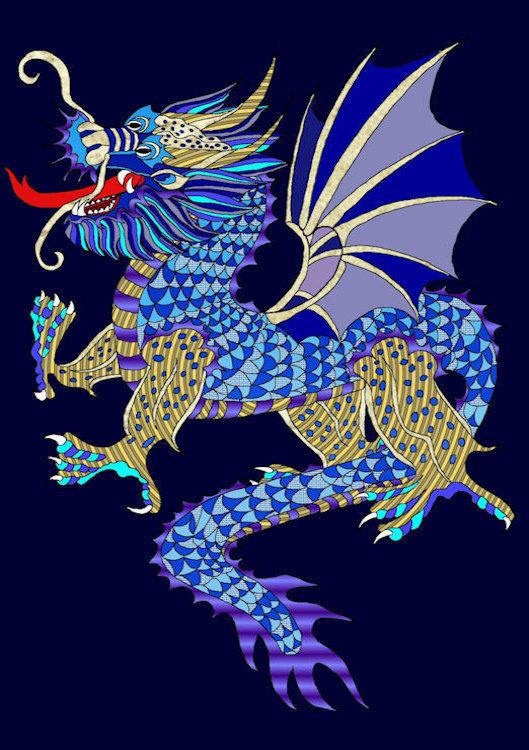 e-blauwe-draak