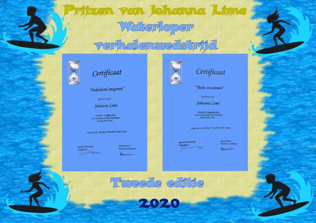 A5 2020 Waterloper prijzen van Johanna Lime